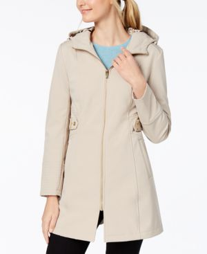 PETITE SOFTSHELL RAINCOAT