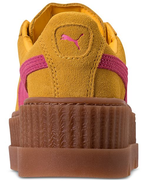 cd3b79b1c0d ... Puma Women s Fenty x Rihanna Suede Cleated Creeper Casual Shoes from  Finish ...