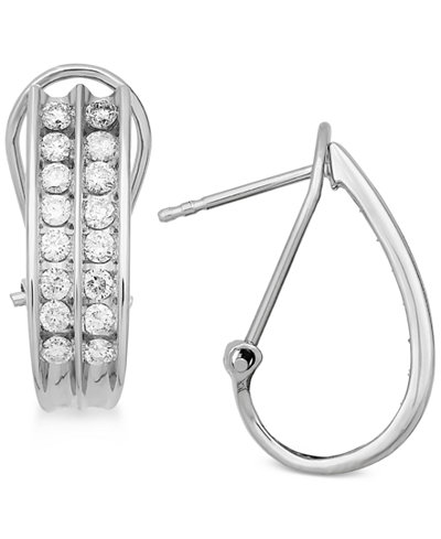 Diamond Hoop Earrings (1 ct. t.w.) in 14k White Gold or Gold
