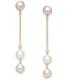 I.N.C. Gold-Tone Simulated Pearl Stick Earrings, Created for Macy's