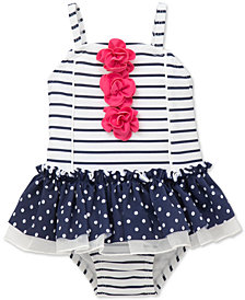Little Me Striped Swimsuit, Baby Girls
