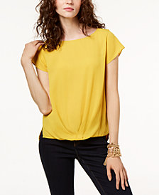 I.N.C. Draped-Hem Top, Created for Macy's
