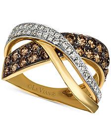 Le Vian Chocolatier® Diamond Crisscross Ring (1-1/8 ct. t.w.) in 14k Gold