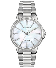 Citizen Women's Eco-Drive Chandler Stainless Steel Bracelet Watch 37mm