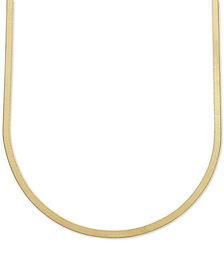 "22"" Italian Gold Herringbone Chain Necklace in 10k Gold"