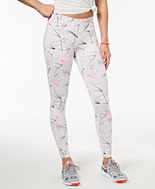 Material Girl Active Juniors' Multicolored Marble-Print Leggings, Created for Macy's