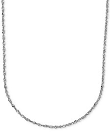 "18"" Perfectina Chain Necklace (1-1/3mm) in 14k White Gold"