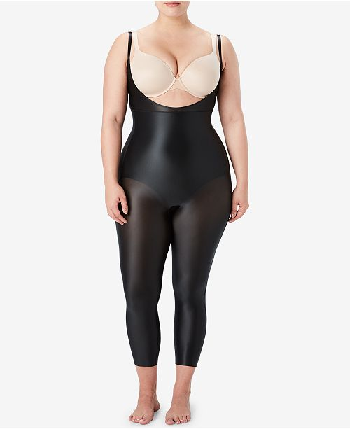 SPANX Women's  Plus Size Suit Your Fancy Open-Bust Catsuit 10155P