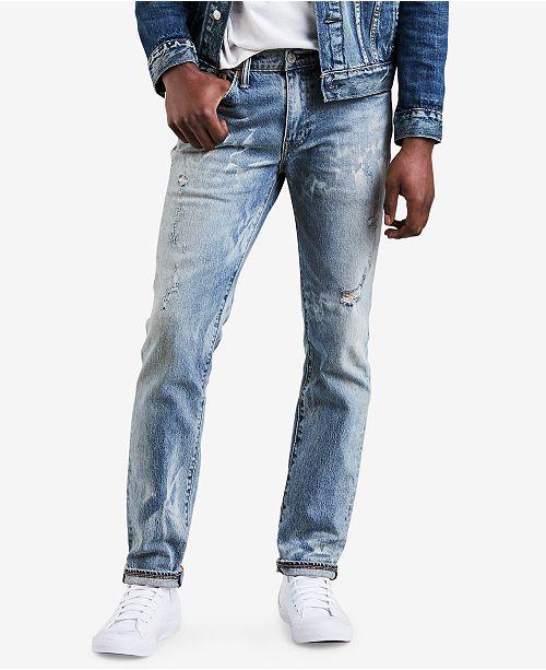 9baf7b57 Levi's Men's 511™ Slim-Fit Distressed Jeans; Levi's Men's 511™  ...