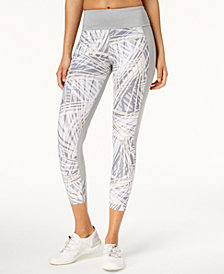 Calvin Klein Performance Radiant Printed High-Waist Cropped Leggings