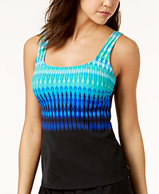 Reebok Trailblazer Printed Tankini Top, Created for Macy's
