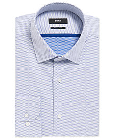 BOSS Men's Regular/Classic-Fit Diamond-Print Cotton Dress Shirt