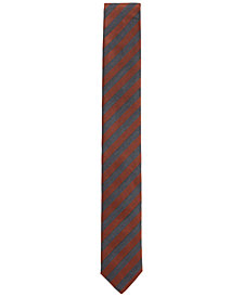 BOSS Men's Striped Silk Slim Tie