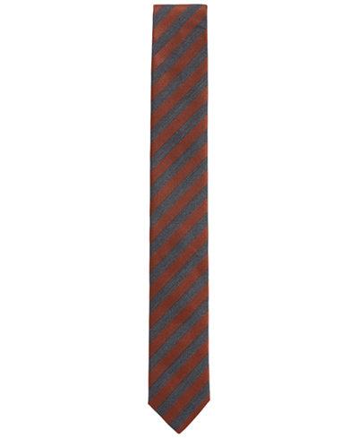 BOSS Men's Striped Silk Slim Tie