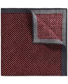 BOSS Men's Pindot Wool Pocket Square
