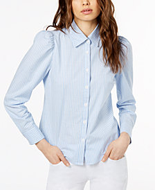 Jill Jill Stuart Puff-Shoulder Blouse, Created for Macy's