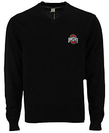 Cutter & Buck Men's Ohio State Buckeyes Broadview V-Neck Sweater