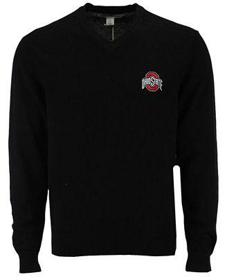 Cutter Buck Mens Ohio State Buckeyes Broadview V Neck Sweater