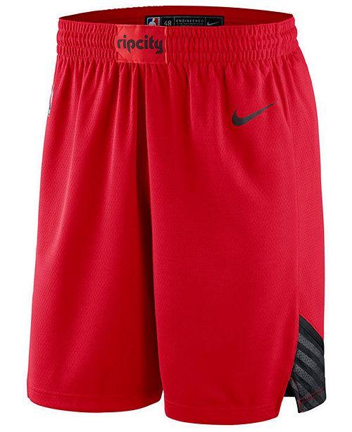 Nike Men's Portland Trail Blazers Statement Swingman Shorts