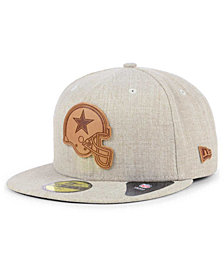 New Era Dallas Cowboys Heathered Helmet 59FIFTY Fitted Cap