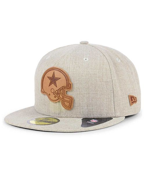 e91ded8ad New Era Dallas Cowboys Heathered Helmet 59FIFTY Fitted Cap - Sports ...