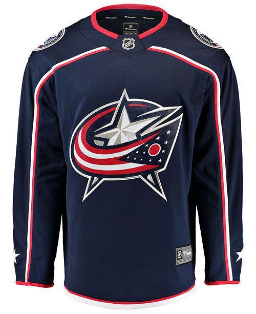 Fanatics Men s Columbus Blue Jackets Breakaway Jersey - Sports Fan ... 4d1a7836a