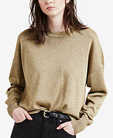 Levi's® Metallic Drop-Shoulder Sweater