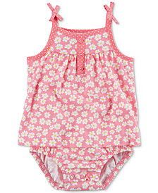 Carter's Floral-Print Cotton Romper, Baby Girls