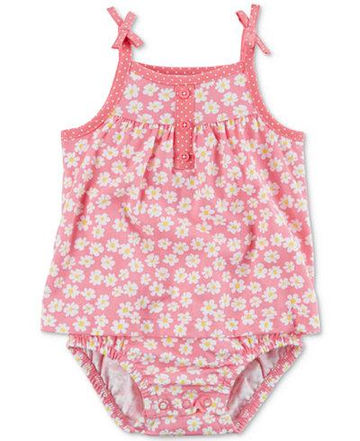 Carter's Floral-Print Cotton Sunsuit, Baby Girls