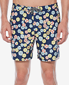 "Original Penguin Men's 6"" Umbrella-Print 6"" Swim Trunks"