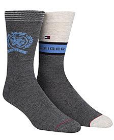 Tommy Hilfiger Men's 2-Pk. Hilfiger Crest Socks