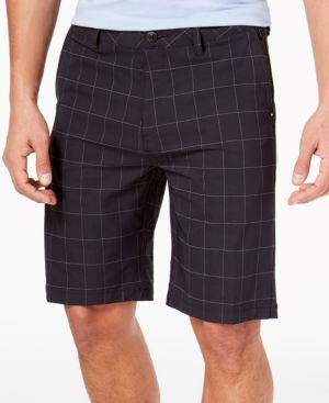 Men'S Union Plaid Amphibian Shorts, Created For Macy'S, Black