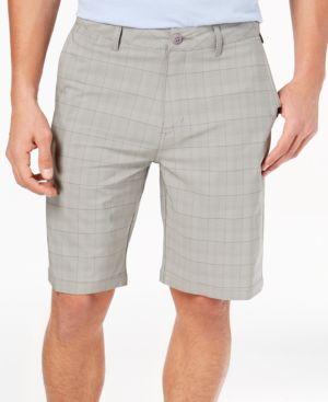 Men'S Union Plaid Amphibian Shorts, Created For Macy'S, Sleet
