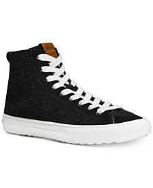 COACH C216 Perforated High-Top Sneakers
