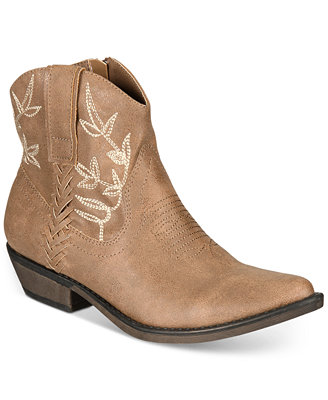 Dolly Cowboy Ankle Booties, Created For Macy's by American Rag