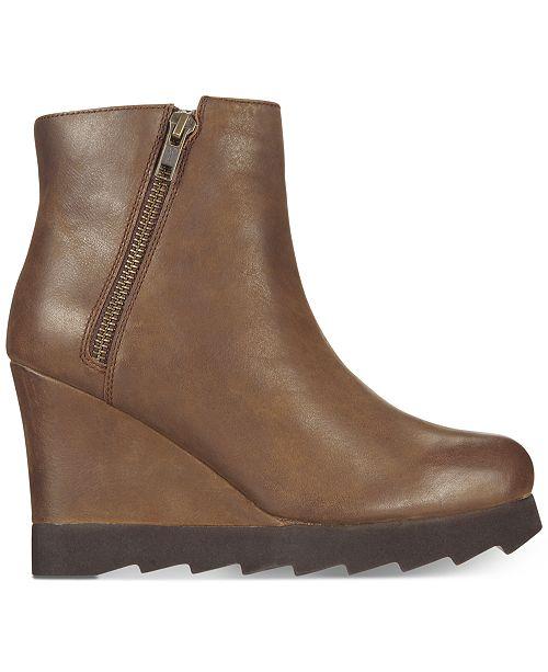 Callisto Kairra Platform Wedge Booties Women's Shoes KjhOBXBs