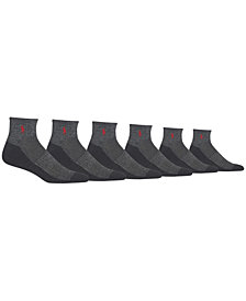 Polo Ralph Lauren Men's Big & Tall 6-Pk. Athletic Quarter Socks