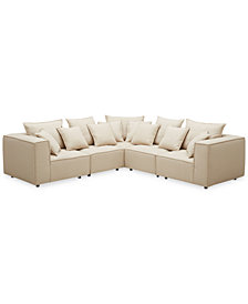Rainshire 5-Pc. Performance Fabric Modular Sectional, Created For Macy's