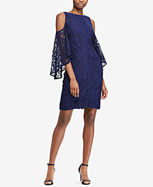 Lauren Ralph Lauren Cold-Shoulder Bell-Sleeve Dress
