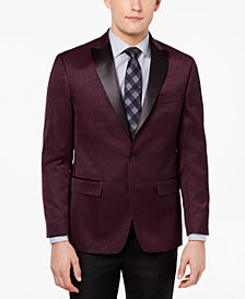 Ryan Seacrest Distinction™ Men's Modern-Fit Burgundy Textured Dinner Jacket, Created for Macy's