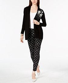 Alfani Embellished Cardigan & Skinny Pants, Created for Macy's