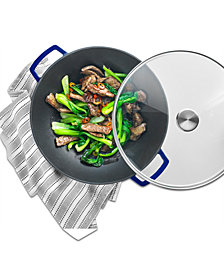 Martha Stewart Collection Enameled Cast Iron 5-Qt. Wok, Created for Macy's