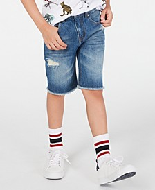 Destructed Cotton Denim Shorts, Little Boys, Created for Macy's