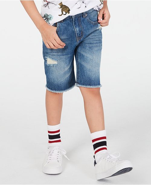Epic Threads Destructed Cotton Denim Shorts, Toddler Boys, Created for Macy's
