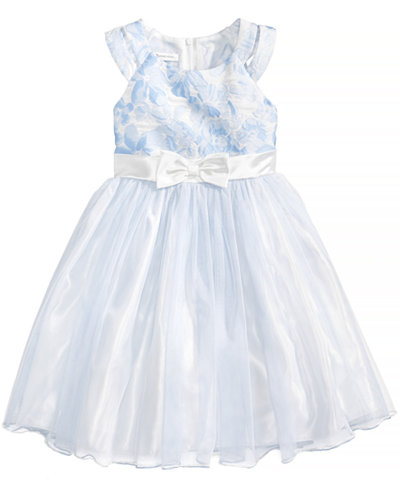 Bonnie Jean Floral Brocade Ballerina Dress, Toddler Girls