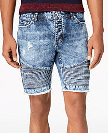 American Rag Men's Ripped Moto Denim Shorts, Created for Macy's