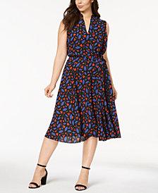 Anne Klein Plus Size Printed Midi Dress