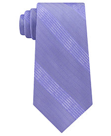 Calvin Klein Men's Cloud Stripe Silk Tie