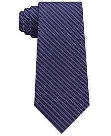 Calvin Klein Men's Mirror Pinstripe Silk Tie