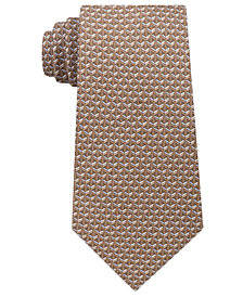 Michael Kors Men's Interlinked Geometric Silk Tie
